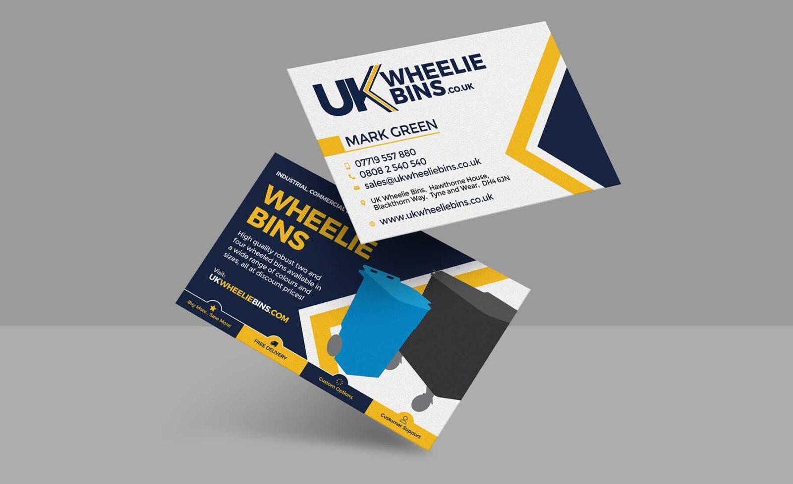 business cards for uk wheelie bins  thinkpad creative